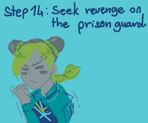 Step 13: The prison guard betrays you