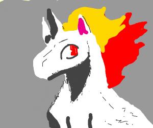 Fiery unicorn