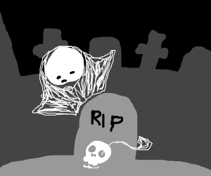 a skull that's just seen a ghost
