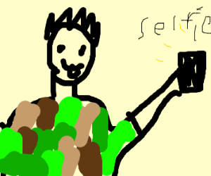 Kid taking a selfie