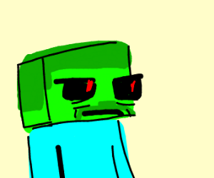 Angry Minecraft zombie