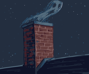 ghost leaves the chimney