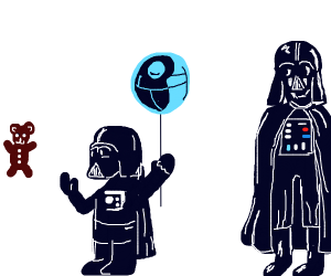 Darth Vader is a proud father