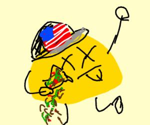 Dead American taco