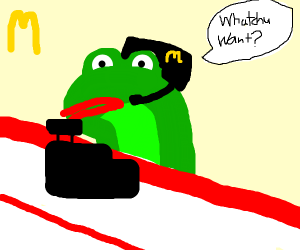 frog that works at McDonald's