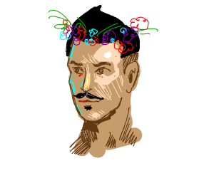 Dorian (Dragon Age) in a flower crown
