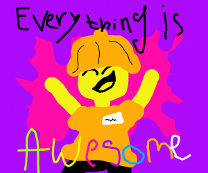 Emmet singing everything is awesome