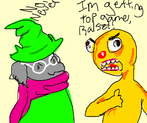Yellmo and Ralsei fight for top game