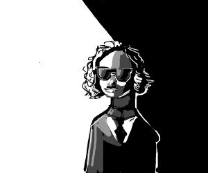 men in black girl in the shadows
