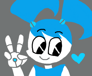 Robot girl comes in peace