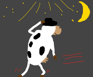Moon Walking Cow