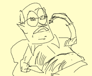 Old man eats candy