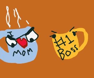 grumpy mugs of coffee