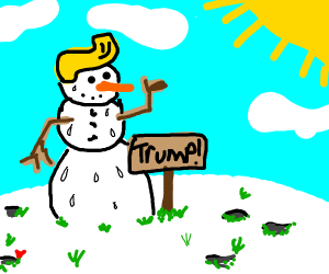 Trump-supporting Snowman
