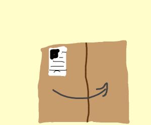 arrow on a box
