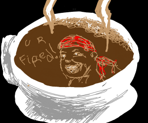 ricardo milos in a teacup says you're fired!