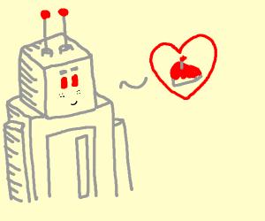 Roboty likes cake