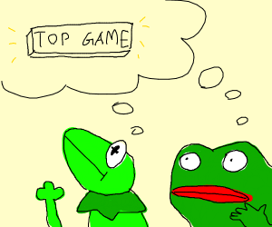 Frog wants top game. (Memes)