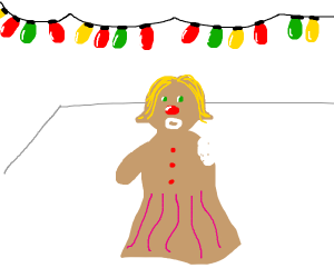 Gingerbread lady lost her arm