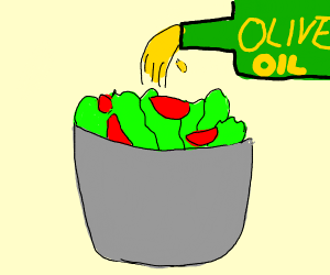 oil on salad