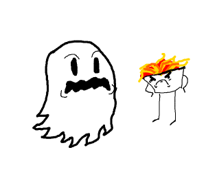 Ghost vs angry spaghetti