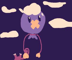 Drifloon carries Rattata
