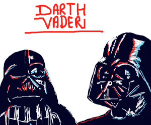 LEGO Darth Vader and Darth Vader