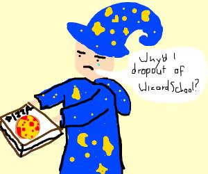 Wizard delivering food