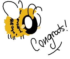 Congratulating a bee