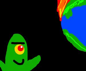 plankton watches the world burn