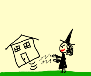 witch uproots house from ground