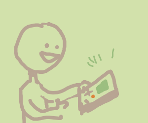 Person Playing Gameboy