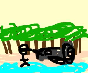 Pilot on a Beach
