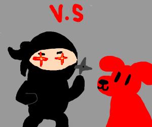 ninja v.s red dog