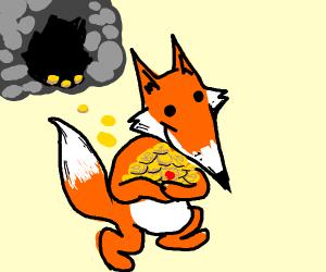 Fox Stealing Loot