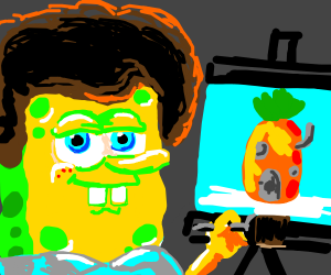 bob ross spongebob