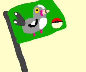 Pokemon Pigeon Flag
