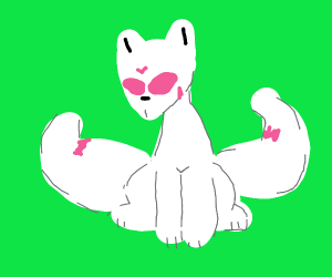 A fox with many tails