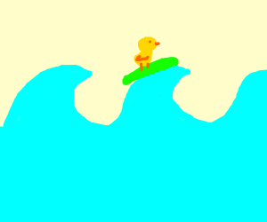 A Duckie Riding Some Tropical Waves