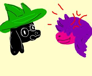 Ralsie tries to calm Susie (DeltaRune)