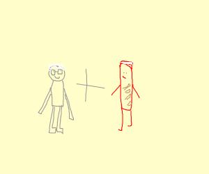 Stan Lee + Pringles Man (?)