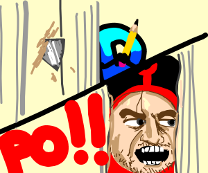 Po is going to kill the drawception D