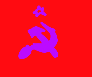 sovietic symbol with retina burn palette