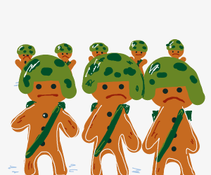army of gingerbread men
