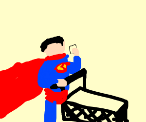 Superman Shopping