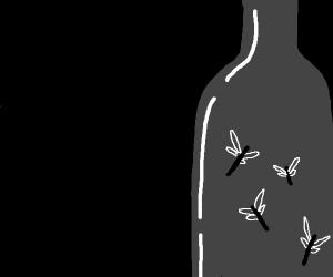 dragon fly in a bottle