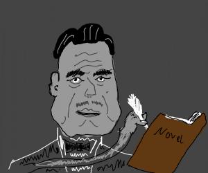 Vito Corleone writing his novel