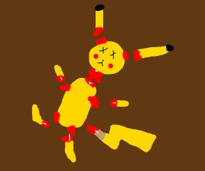 Pikachu cut into multiple pieces