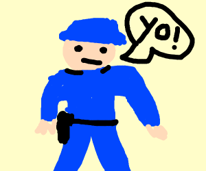 Police Officer Speaking