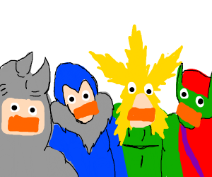 Me and the boys as drawception ducks
